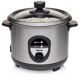 Tristar Rice cooker 1.0L capacity - Stainless steel housing