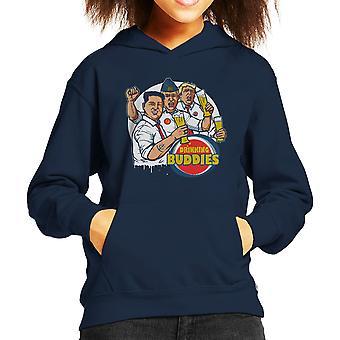 世界のリーダーを飲む仲間プーチン トランプ金正恩子供のフード付きスウェット シャツ