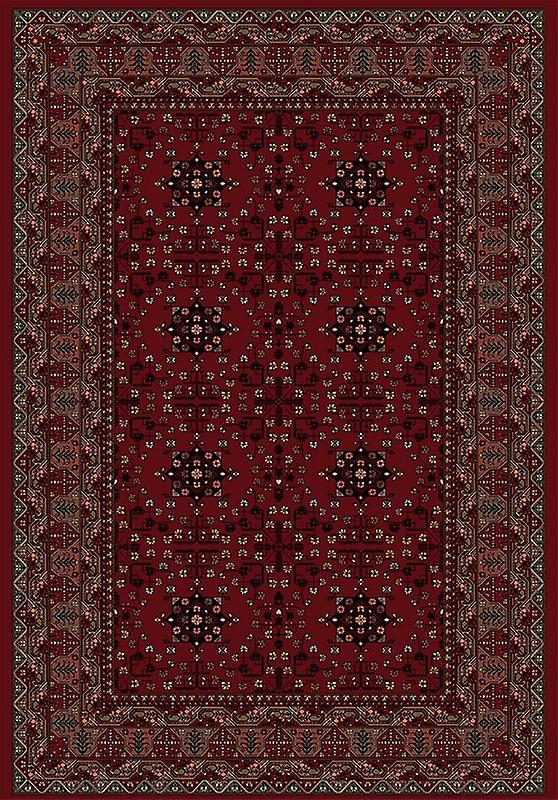 Rugs - Viscount - Red & Black V61