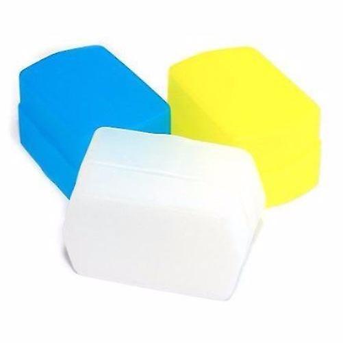 JJC White/Blue/Yellow Flash Diffusers for Metz 48 AF-1, 50 AF-1, 58 AF-1, 58 AF-2