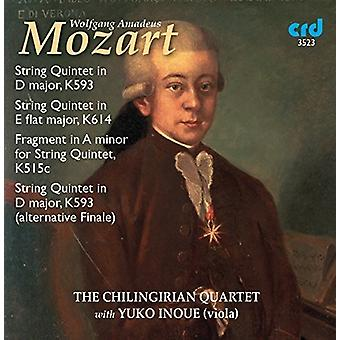 Mozart / Chilingirian kvartetten / Sewart / Meszaros - Mozart: streng kvintetter K.593 & K.614 [CD] USA import
