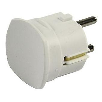 HQ Plug Ac Power Plug Schuko / Type F Cee 7/7 16 A White