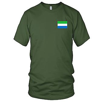 Sierra Leone Land Nationalflagge - Stickerei Logo - 100 % Baumwolle T-Shirt Kinder T Shirt