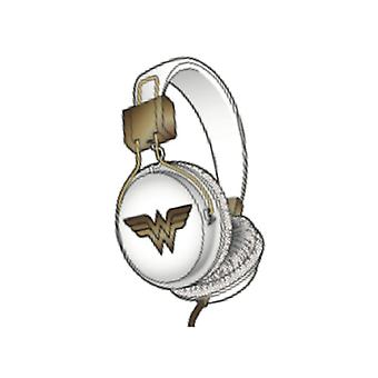 WONDER WOMAN Headphone Tween On-Ear White/Gold