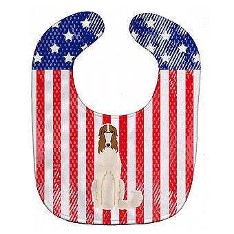 Carolines Schätze BB3018BIB patriotische USA Barsoi Baby Lätzchen