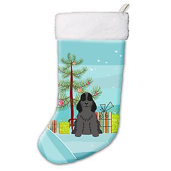 Веселая Рождественская елка кокер спаниель черный Рождественский чулок