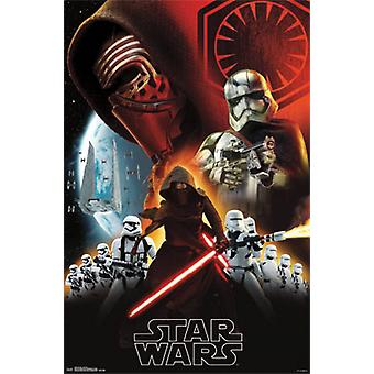 Star Wars The Force Awakens - Dark Side Poster Poster Print