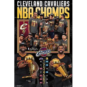 Финал НБА 2016 - празднование Плакат Плакат Печать