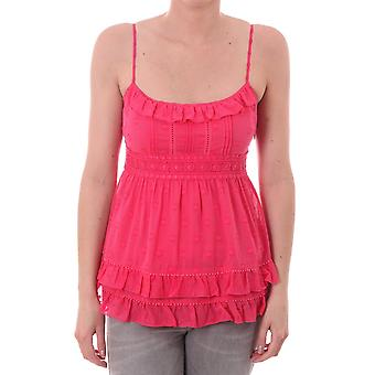 Juicy Couture Womens Ruffle Neckline Top