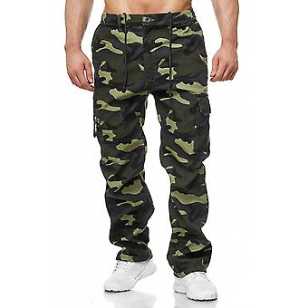 Men's cargo pants cargo pants lined solid colors + camouflage pattern