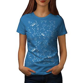Chemistry Science Women Royal BlueT-shirt | Wellcoda