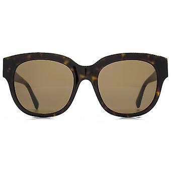 Stella McCartney Falabella Brow Detail Square Sunglasses In Havana
