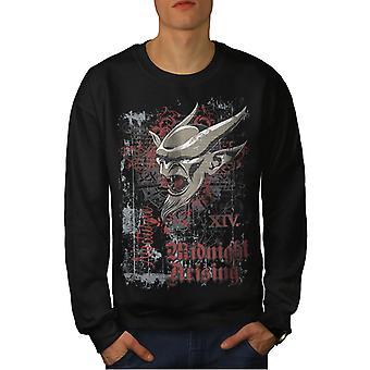 Demon Satan hel mannen BlackSweatshirt | Wellcoda