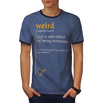 Weird Side Men Heather Blue / NavyRinger T-shirt | Wellcoda