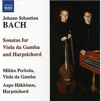 J.S. Bach - J.S. Bach: Sonatas for Viola Da Gamba & Harpsichord [CD] USA import