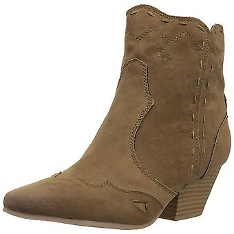 Qupid Women's Rhythm-13 Ankle Boot, Taupe, Size 7.0
