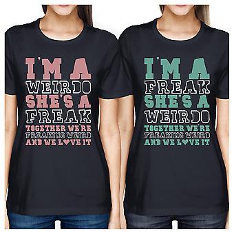 Weirdo Freak BFF passenden Hemden Womens Navy Geschenk für Teenager-Mädchen