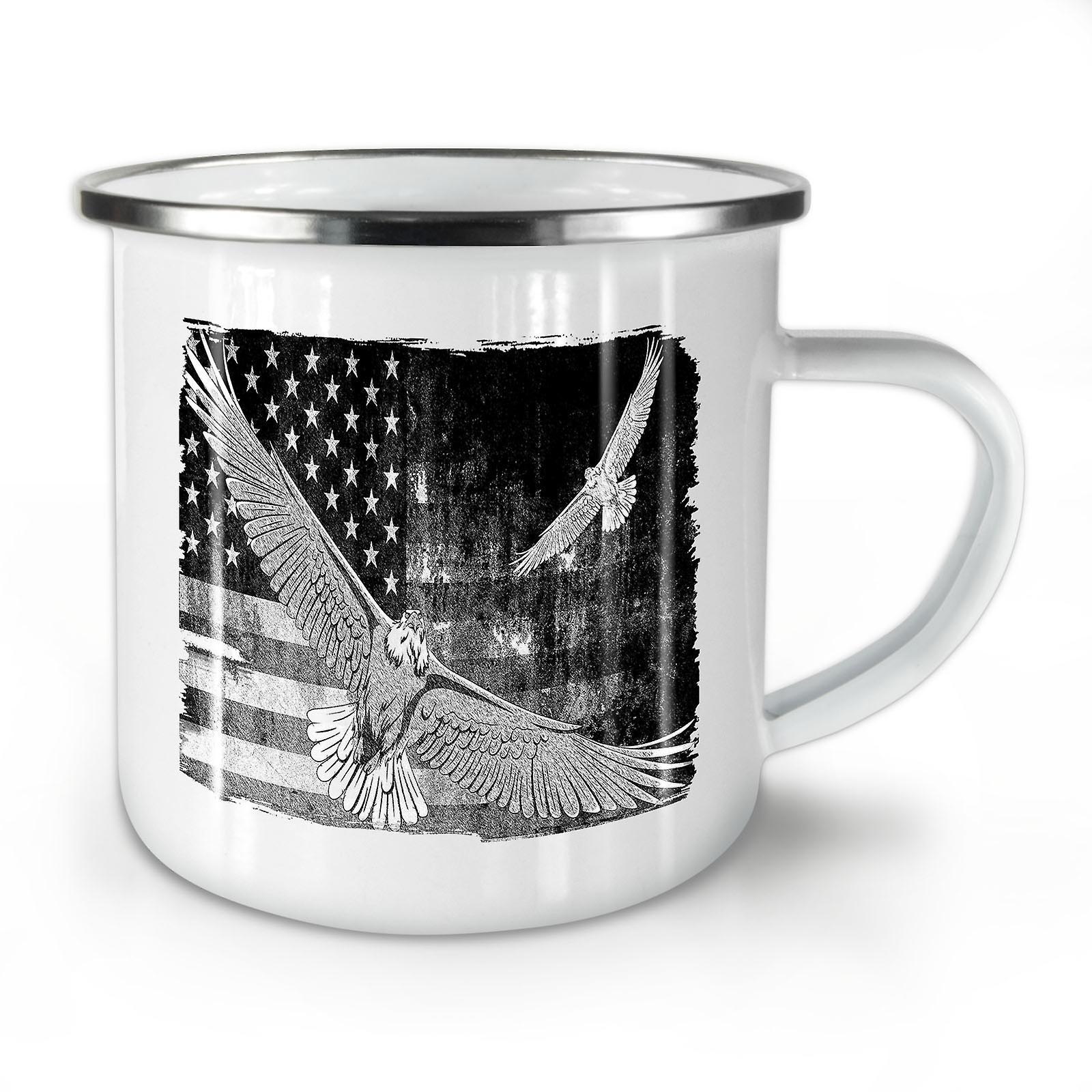 Whitetea Nouveau Usa Américain Drapeau Mug10 Café OzWellcoda Pays Émail XiTkZuOwP
