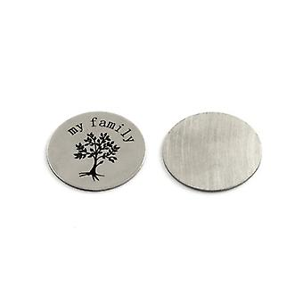 3 x Silver 201 Stainless Steel Flat Back 23mm Coin 1mm Thick Cabochon Y00100