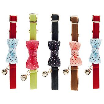Ferribiella Ribbon Cat Collar Pois  (Cats , Collars, Leads & Harnesses , Collars)