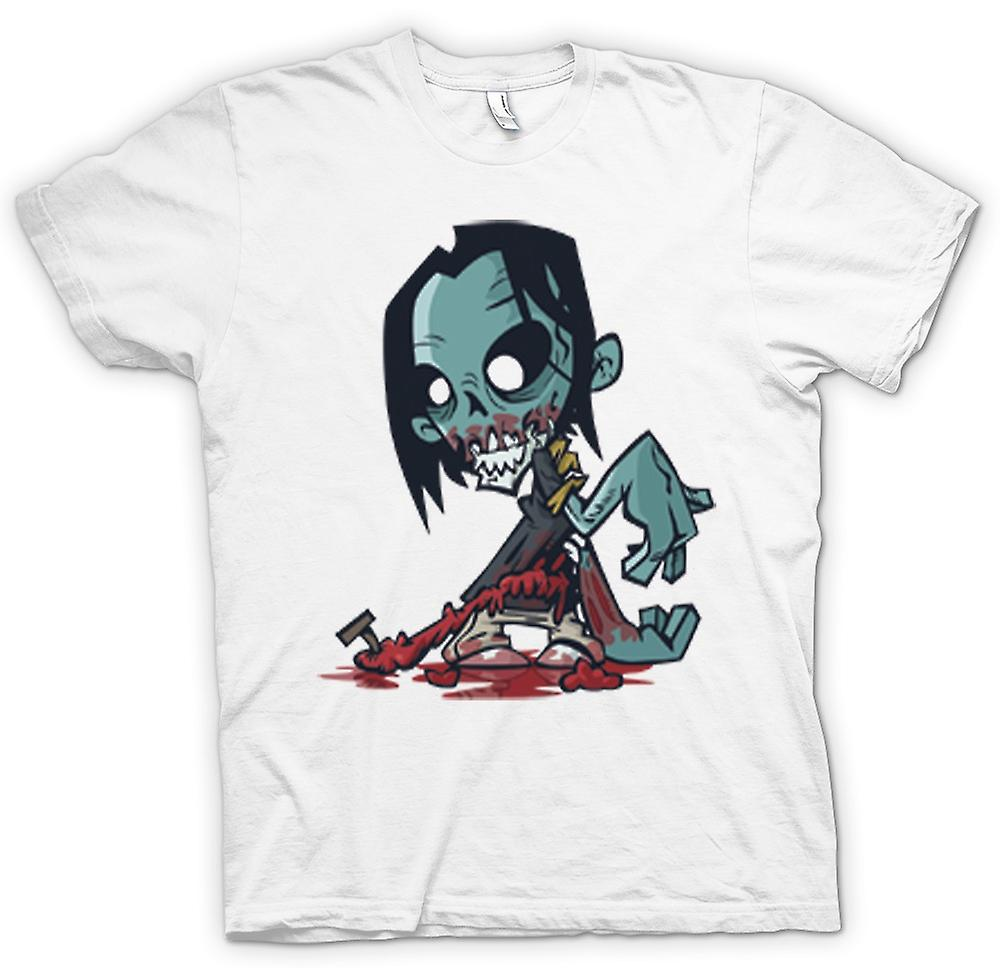 Mens T-shirt - Cartoon Zombie Undead Design