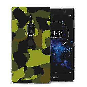Sony Xperia XZ2 Premium groene Camouflage TPU Gel geval