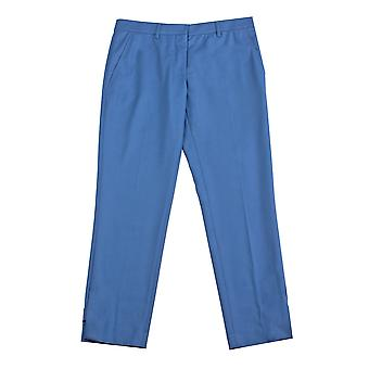 Miu Miu Women's Virgin Wool Trouser Pants Blue