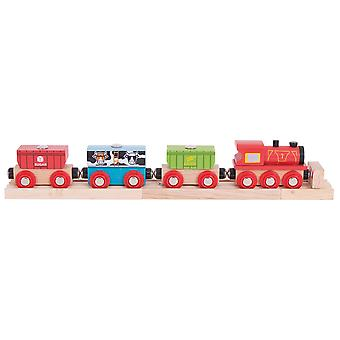 Bigjigs Rail Wooden Cereal Train Carriages Engine Locomotive Compatible