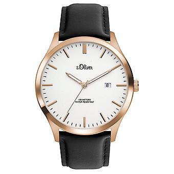 s.Oliver Мужские Часы наручные часы кожа так-3477-LQ