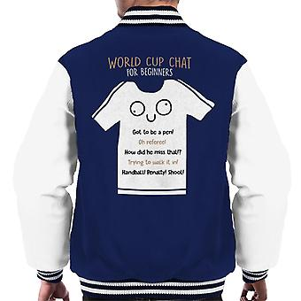 World Cup Chat For Beginners Men's Varsity Jacket