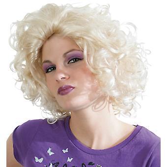 La Donna wig curls superstar. Weißblond