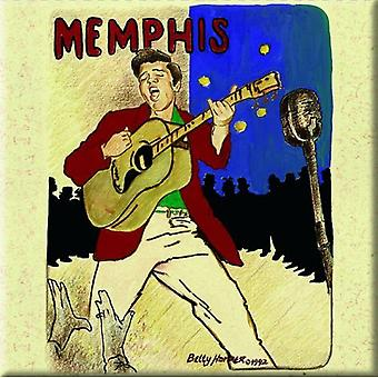Elvis Presley Fridge Magnet Memphis new Official 76mm x 76mm
