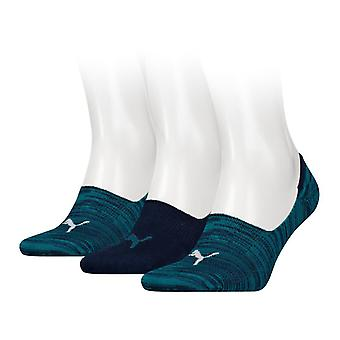 Puma Footie Socks 3 Pack - Green / Grey