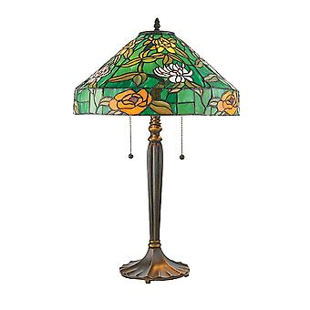 Interiors 1900 Agapantha Green Tiffany Glass Table Lamp