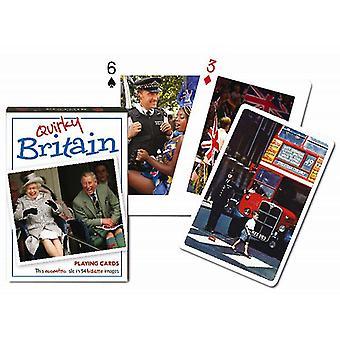 Skurrile Britannien Satz Spielkarten