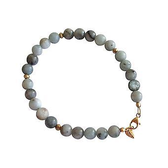 Gemshine - dames - bracelet - aigue-marine - bleu - doré 6 mm