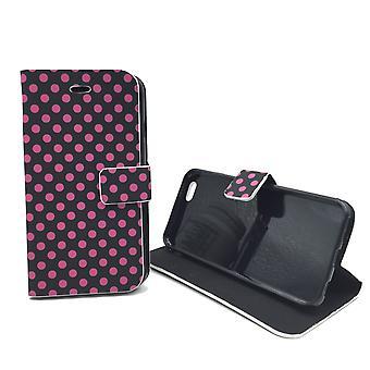 Sleeve case (flip cross) for mobile Apple iPhone 6 black / pink