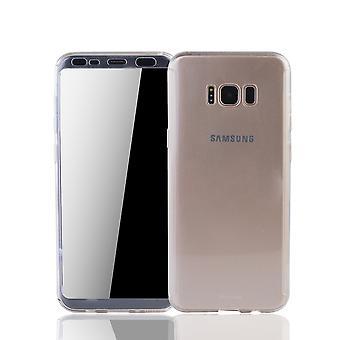Samsung Galaxy S8 plus Rörlig Avsats Schutzcase full täckning 360 Visa skydd folie Klar Matt