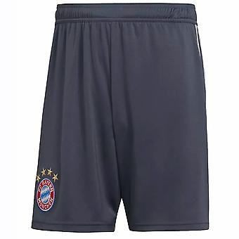 2018-2019 Bayern Munich Adidas Third Shorts (Dark Grey)