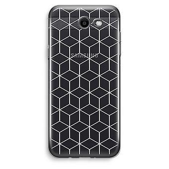 Samsung Galaxy J3 Prime (2017) Transparent Case (Soft) - Cubes black and white
