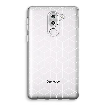 Honor 6X Transparent Case (Soft) - Cubes black and white