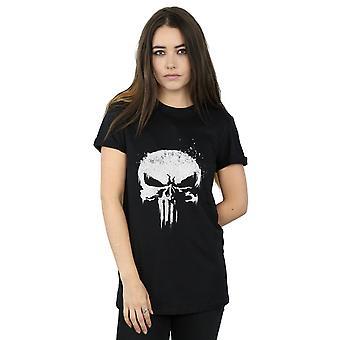 Marvel kvinners Punisher TV Skull Logo kjæresten passer t-skjorte