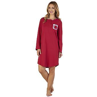 Slenderella NS2216 Women's Checkered Interlock Sleep Shirt Nighty Nightshirt