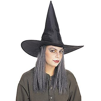 Witch hat with gray hair