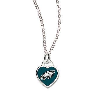 Wincraft damer hjerte halskjede - NFL Philadelphia Eagles