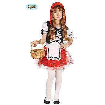 Guirca pequeño traje de cuento de hadas Caperucita niña carnaval Vestido