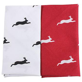 David Van Hagen Hare zakdoek Set - rood/wit