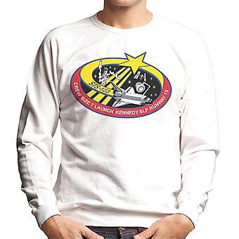 NASA STS 123 Space Shuttle Endeavour Mission Patch Men's Sweatshirt