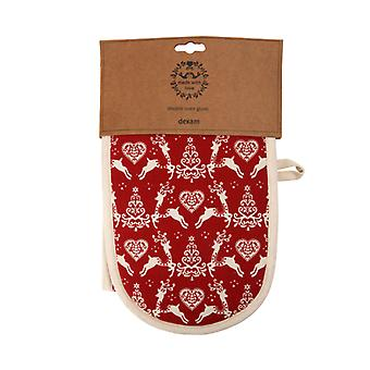 Dexam Yuletide Double Oven Glove