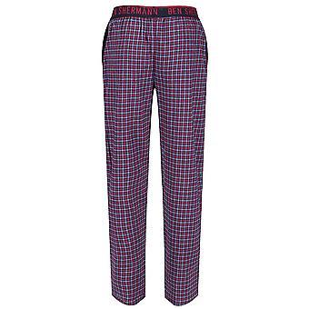 Ben Sherman Men's Woven Lounge Wear Pyjama Bottoms Pants Navy Check Bardof